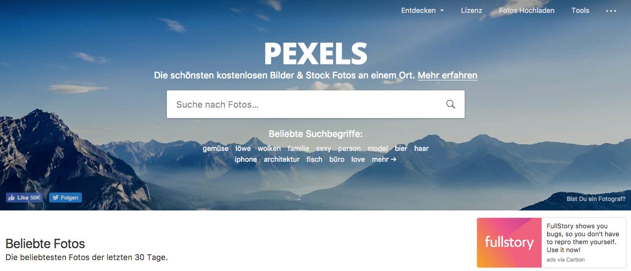 Kostenlose Stockbilder bei Pexels finden