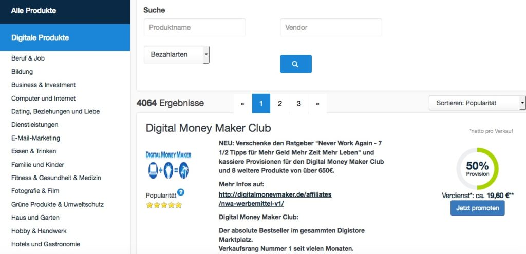 Wie-Online-Geldverdienen.de mit Digistore24 das richtige Infoprodukt für Dich findet.