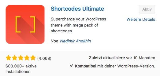 Wie-Online-Geldverdienen.de mit Hilfe des WordPress Plugins Shortcodes Ultimate einfach und schnell erstellt werden kann.