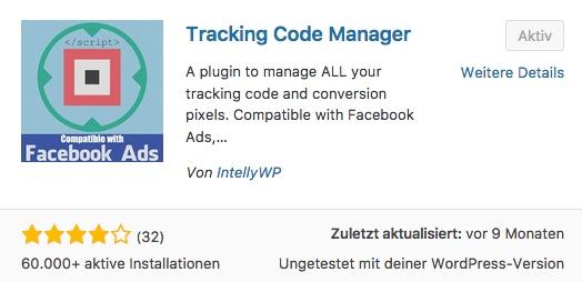 Wie-Online-Geldverdienen.de mit Hilfe des WordPress Plugins Tracking Code Manager Facebook Pixel nutzt.