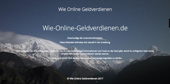 Wie-Online-Geldverdienen.de Wartungsmodus mit dem WordPress Plugin Maintenance erstellt.