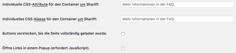 Wie-Wie-Online-Geldverdienen.de zeigt Dir wie Du Deine rechtlichen Pflichtseiten erstellst. Shariff Wrapper Design Einstellungen Teil 3