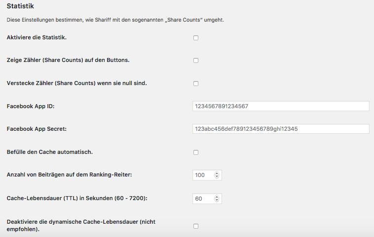 Wie-Wie-Online-Geldverdienen.de zeigt Dir wie Du Deine rechtlichen Pflichtseiten erstellst. Shariff Wrapper Statistik Seite