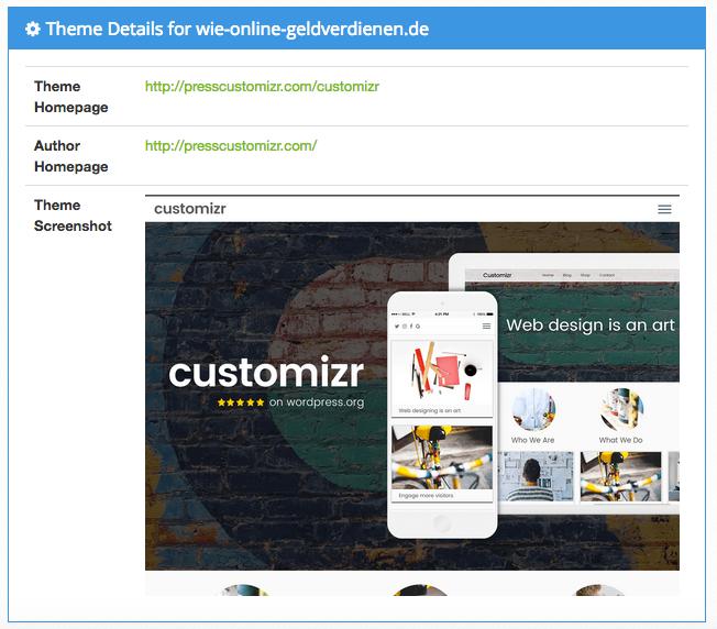 WordPress installieren und das Theme bei What WordPress Theme ist That ermitteln