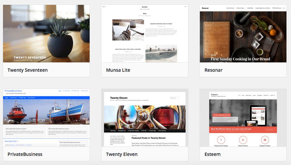 WordPress installieren und das richtige WordPress Theme aussuchen