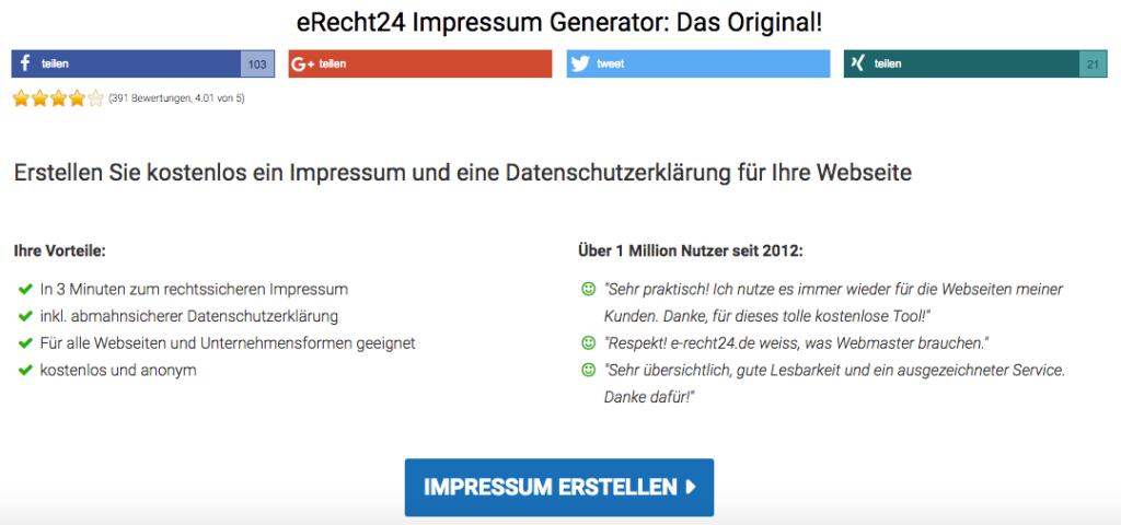 Wie-Online-Geldverdienen.de zeigt Dir wie Du Deine Rechtlichen Pflichtseiten mit Hilfen von e-Recht24.deerstellst