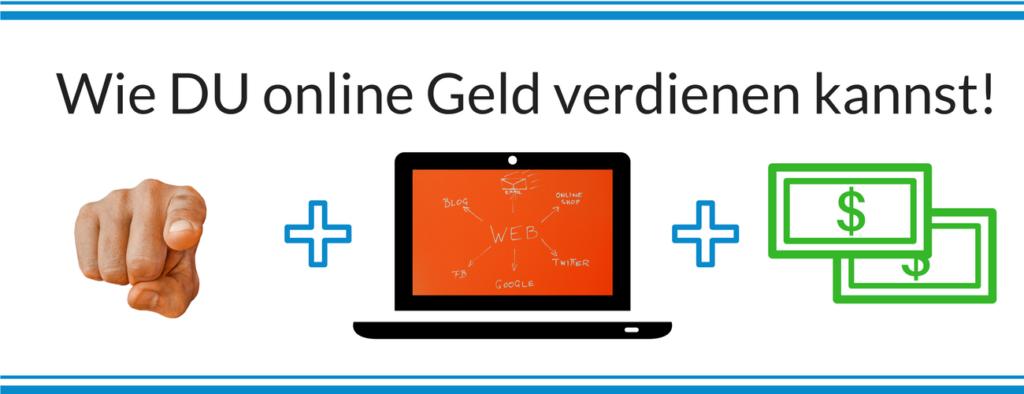 Startseite Bild Wie-Online-Geldverdienen.de zeigt dir alle benötigten Elemente zum online Geldverdienen.