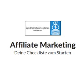 Wie-Online-Geldverdienen.de Kostenlose Checkliste für Affiliate Marketing