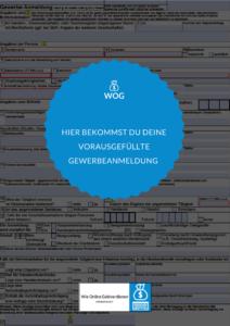 Wie-Online-Geldverdienen.de, Vorausgefüllte Gewerbeanmeldung für Affiliate Marketing, Online Marketing