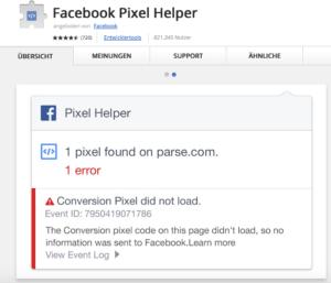 Wie-Online-Geldverdienen.de, Test des Facebook Pixel Opt-Out Teil-2