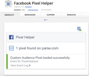 Wie-Online-Geldverdienen.de, Test des Facebook Pixel Opt-Out Teil-1