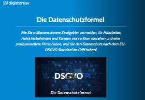 Wie-Online-Geldverdienen.de, Digistore24 Datenschutzformel