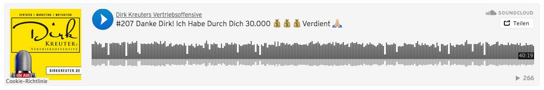Wie-Online-Gåeldverdienen.de, Podcast Dirk Kreuter, Wie ich durch Dich 30000 Euro verdient habe.