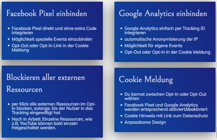 Wie-Online-Geldverdienen.de, Facebook Pixel Opt-In / Opt-Out, Google Analytics Opt-In und Opt-Out und Cookie Hinweis