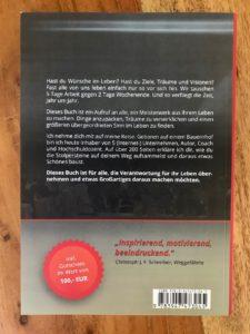 Wie-Online-Geldverdienen.de, Buchempfehlungen, Thomas Klussmann, der Tag an dem sich alles änderte, Rückseite
