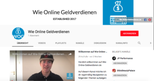 Wie-Online-Geldverdienen.de, Youtube Kanal Videos