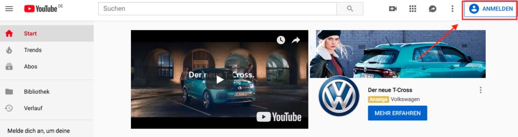 Wie-Online-Geldverdienen.de, Affiliate Marketing ohne Webseite mit YouTube, Neuen YouTube Kanal erstellen