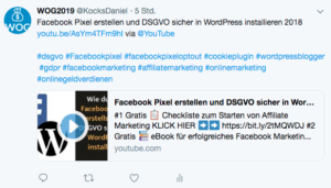 Wie-Online-Geldverdienen.de, Affiliate Marketing ohne Webseite mit YouTube, YouTube Video verbreiten Twitter