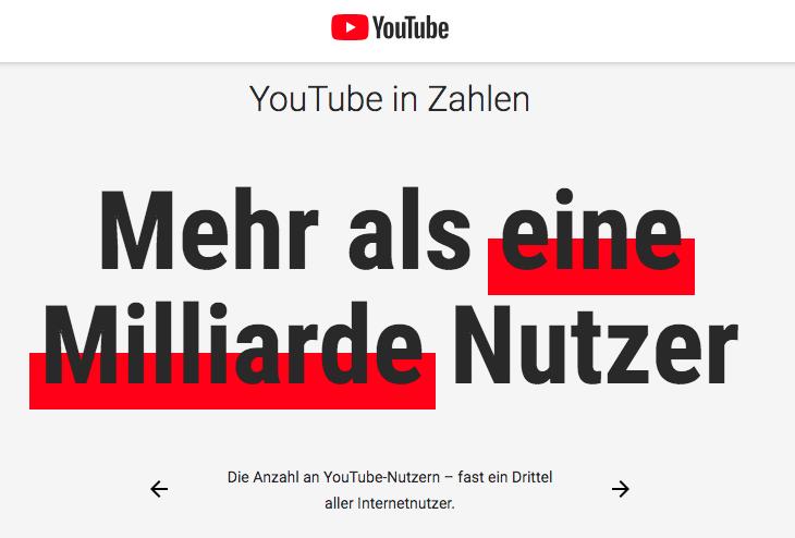 Wie-Online-Geldverdienen.de, Affiliate Marketing ohne Webseite mit YouTube, YouTube Nutzer Zahlen