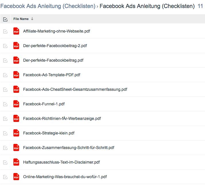 Wie-Online-Geldverdienen.de, Nico Lampe, Facebook Ads 2.0 Anleitung, Checkliste