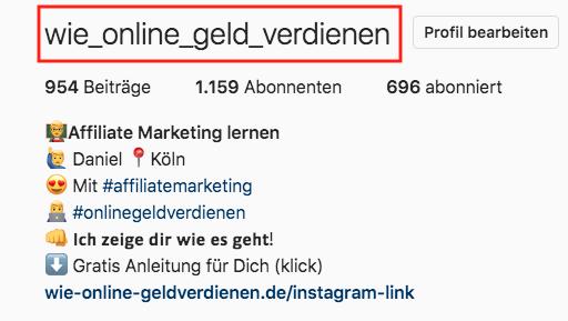 Wie-Online-Geldverdienen.de, Wie Online Geld verdienen Instagram Name, Mit Instagram Geld verdienen