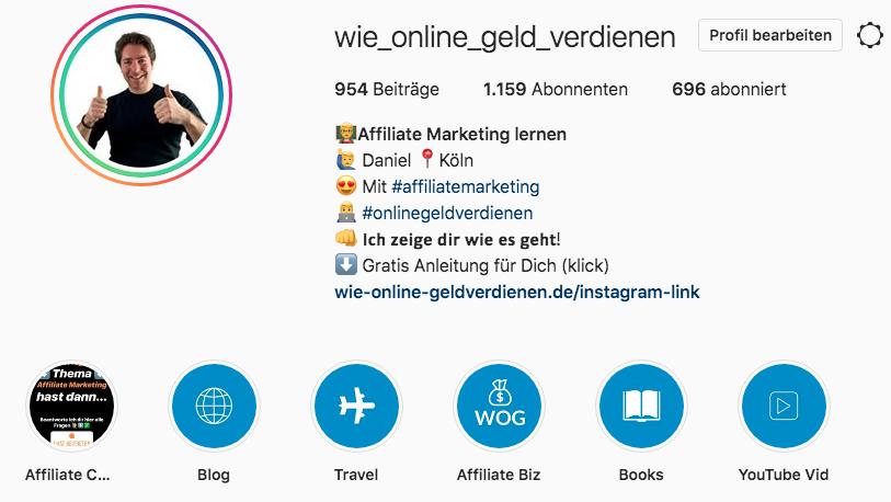 Wie-Online-Geldverdienen.de, Wie Online Geld verdienen Instagram Account, Mit Instagram Geld verdienen