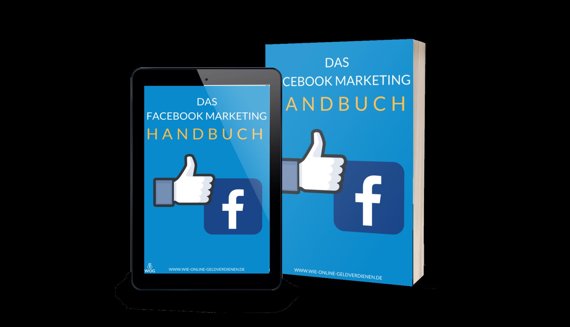 Wie-Online-Geldverdienen.de, Facebook Marketing Handbuch Cover