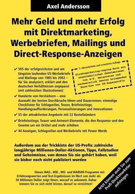 Mehr Geld und mehr Erfolg mit Direktmarketing - Werbebriefen - E-Mails und mehr von Axel Andersson - Top 5 E-Mail Marketing Bücher 2021